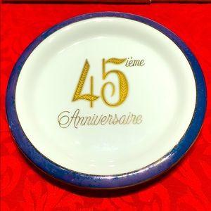 Saji Fine China Japan 45th anniversary plaque